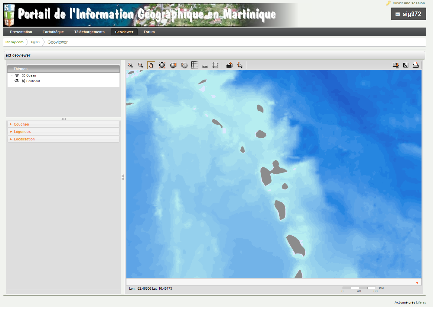 Martinique Geographical Information Portal (SIG972)