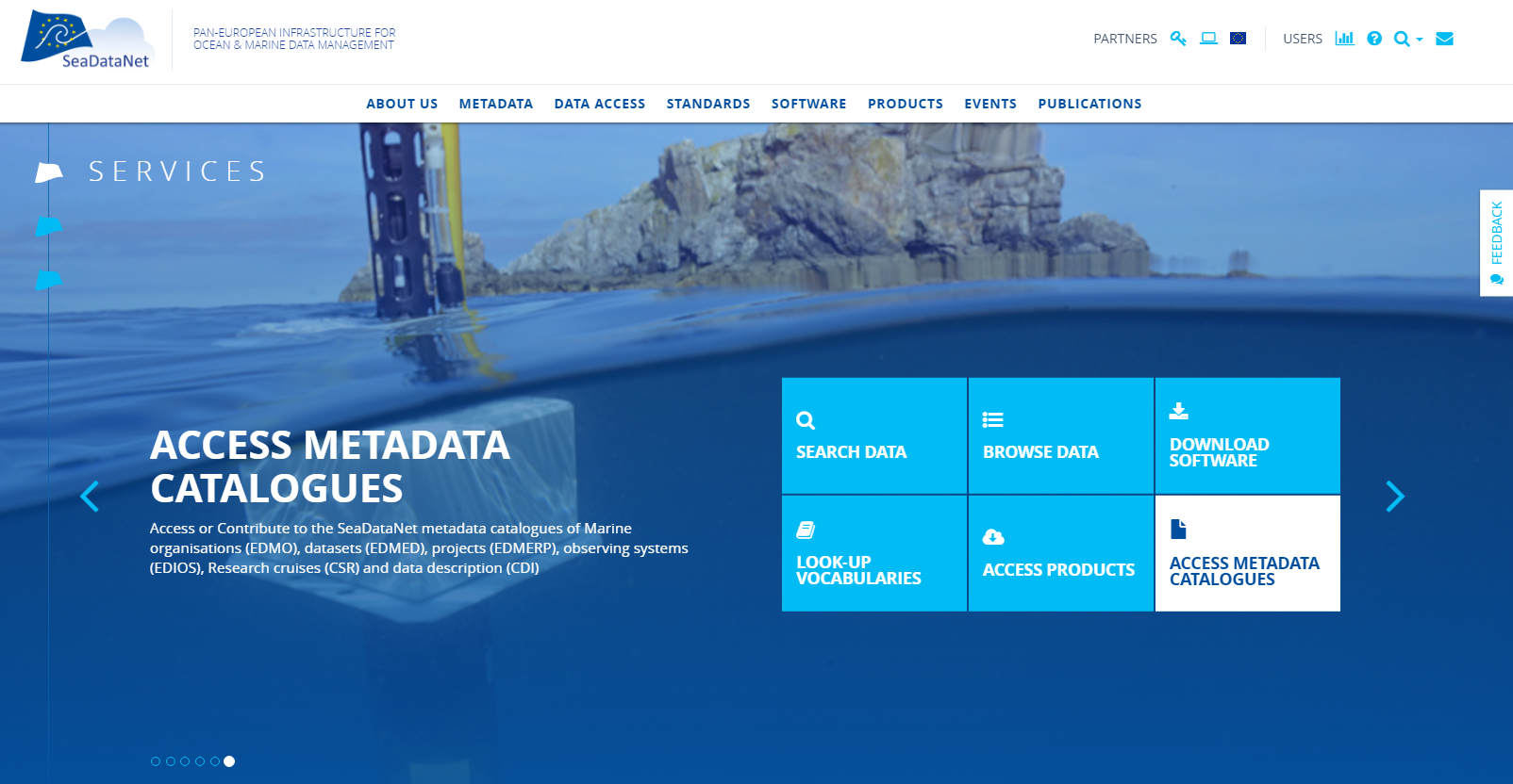 Pan-European Infrastructure for Ocean & Marine Data Management (SeaDataNet/SeaDataCloud)